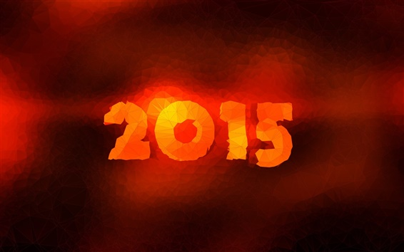 Wallpaper 2015 New Year, red fire