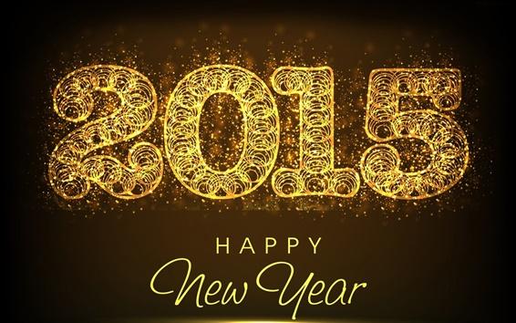 Papéis de Parede Estilo abstrato, Feliz Ano Novo 2015