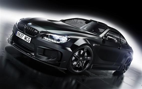 Wallpaper BMW M6 black car