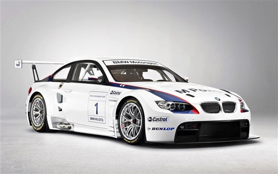 Wallpaper Beautiful BMW M3 GT2 supercar front view