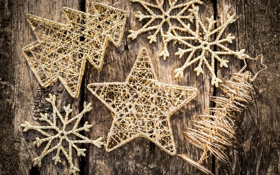 Fondos de pantalla Decoraciones de Navidad, árbol, copos de nieve, invierno