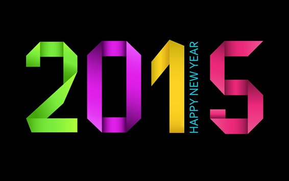 Wallpaper Colorful 2015, Happy New Year