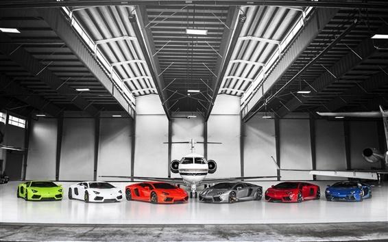 Обои Различные цвета Lamborghini Aventador LP700-4 суперкары