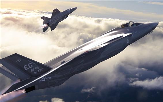 Wallpaper F-35 Lightning II, American, fighter