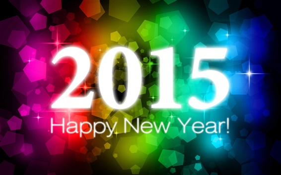 Wallpaper Happy New Year 2015, colorful background