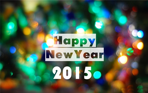 Wallpaper Happy New Year 2015, colorful lights