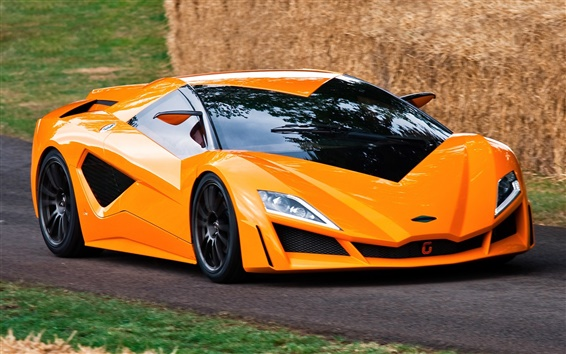 Wallpaper Italdesign Giugiaro orange supercar