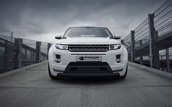 Wallpaper Land Rover Evoque PD650 white SUV car front view