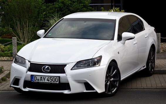 Wallpaper Lexus F Sport white car front view