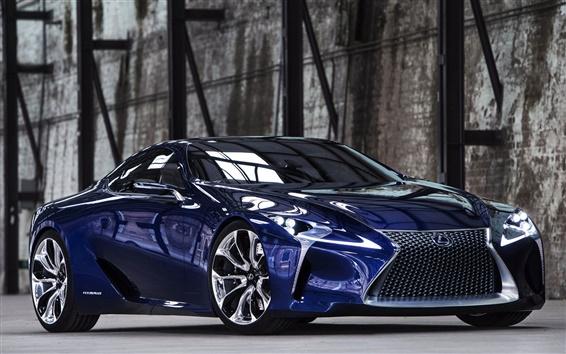 Обои Lexus LF-LC синий Концепция автомобиль вид спереди