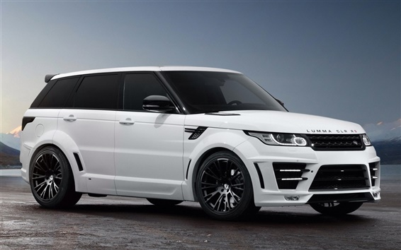 Wallpaper Lumma CLR RS SUV white, Land Rover, Range Rover