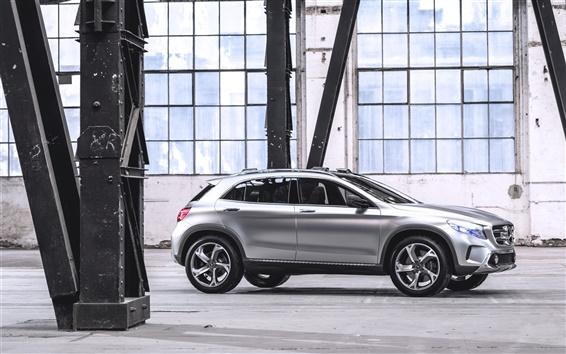 Papéis de Parede Mercedes-Benz GLA carro conceito prata