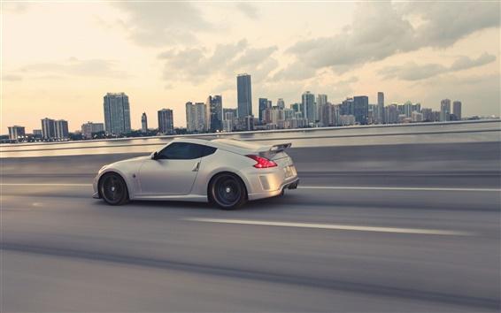 Обои Nissan 370Z серый автомобиль