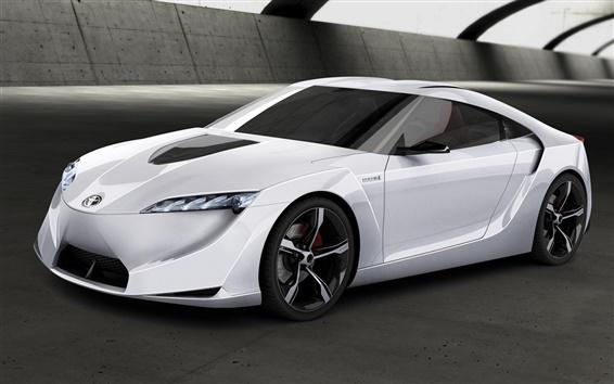 Wallpaper Toyota FT-HS concept white car