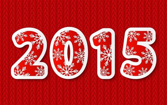 Papéis de Parede 2015 Feliz Ano Novo, estilo vermelho