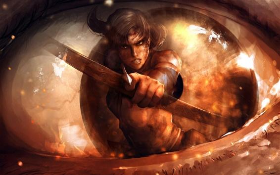Fond d'écran Images d'art, Lara Croft, Tomb Raider, flèche