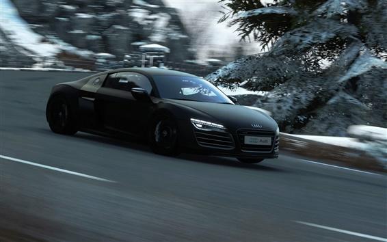 Fond d'écran Audi vitesse de la voiture noire