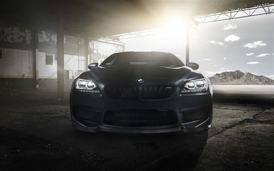 Wallpaper BMW M6 Coupe F13 black car front view