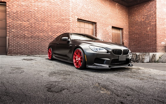 Wallpaper BMW M6 F13 black car