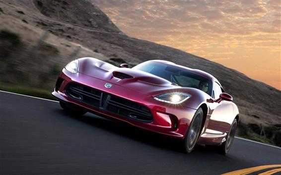 Обои Dodge Viper SRT GTS 2012 суперкар, вид спереди