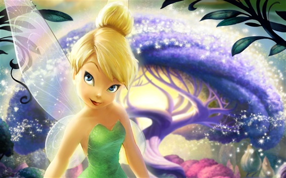 Wallpaper Fairies, Disney cartoon, wings, girl