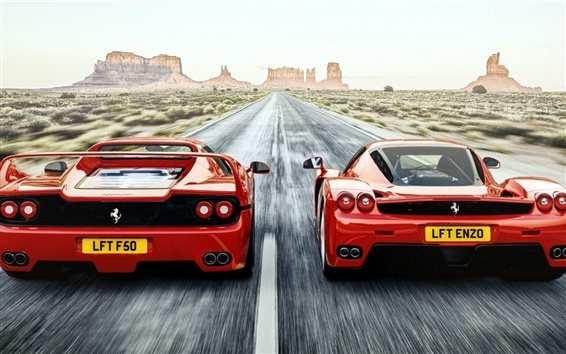 Wallpaper Ferrari F50 Enzo red supercar