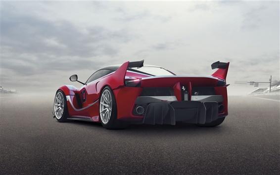 Wallpaper Ferrari FXX K supercar rear view