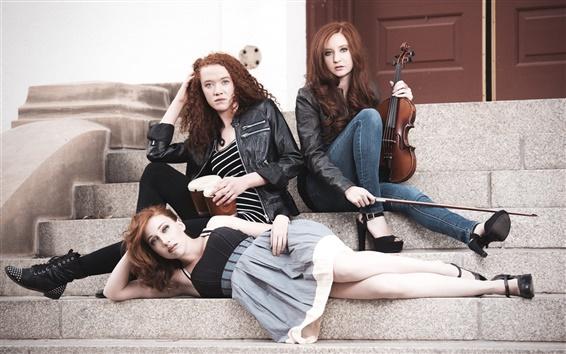 Wallpaper Ginger Street Band, three girls