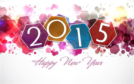 Fond d'écran Bonne et Heureuse Année 2015, design coloré