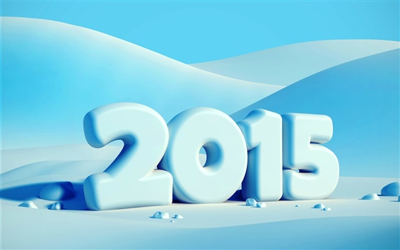 Wallpaper Happy New Year 2015, winter, snow
