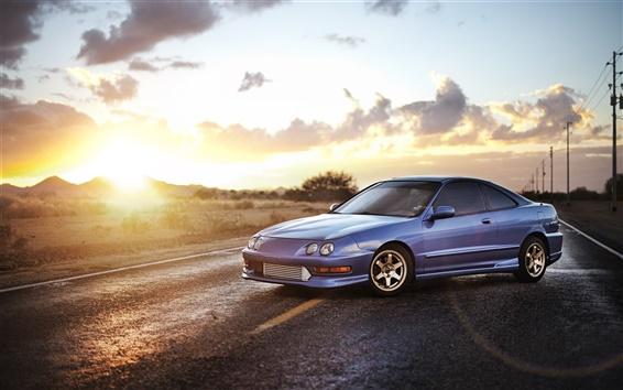 Обои Honda Acura Седан, синий автомобиль