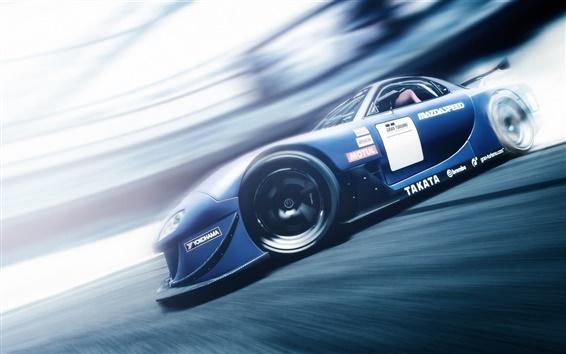 Papéis de Parede Mazda RX7 Gran Turismo 6 azul velocidade supercar