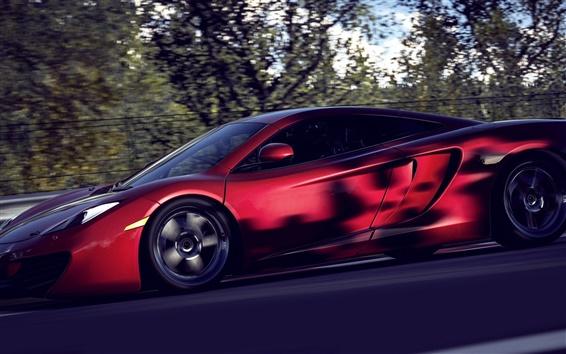 Wallpaper McLaren MP4-12C red supercar speed