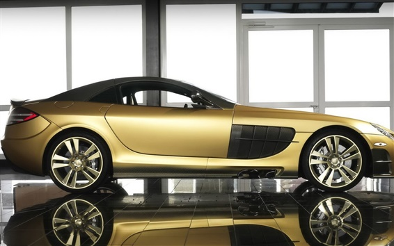 Wallpaper McLaren SLR Renovatio golden supercar