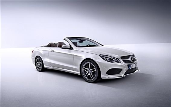 Wallpaper Mercedes-Benz E-Class white car