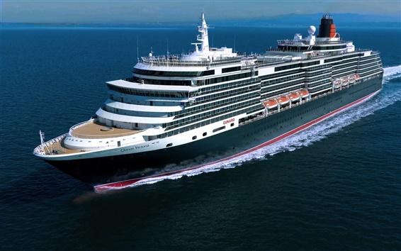 Wallpaper Queen Victoria cruise ship, sea