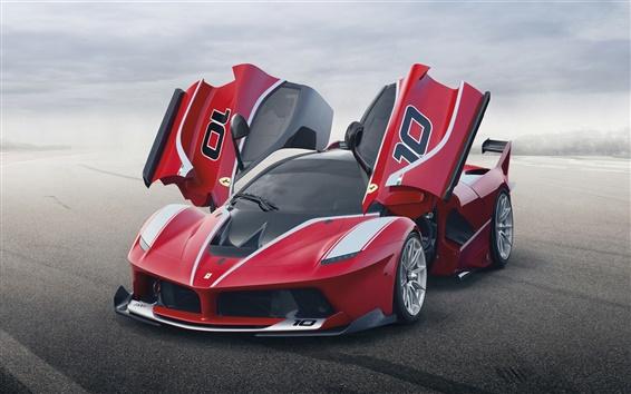 Обои Красный Ferrari FXX K Посмотреть суперкар спереди