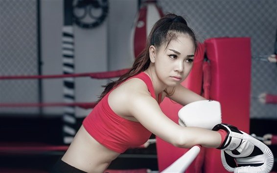 Wallpaper Sports, boxing, girl