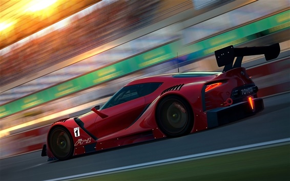 Wallpaper Toyota FT-1 Concept red sports car