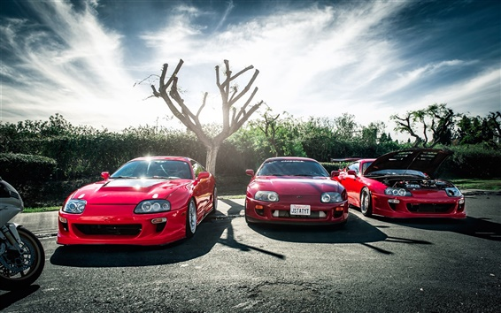 Wallpaper Toyota red supercar