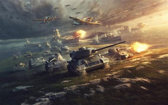 Fond d'écran World of Tanks, la guerre