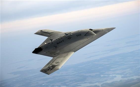 Fond d'écran X-47B Pegasus, drone, ciel, USA