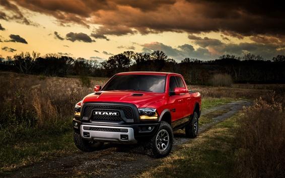 Fond d'écran 2015 Ford Ram 1500 Pickup rouge