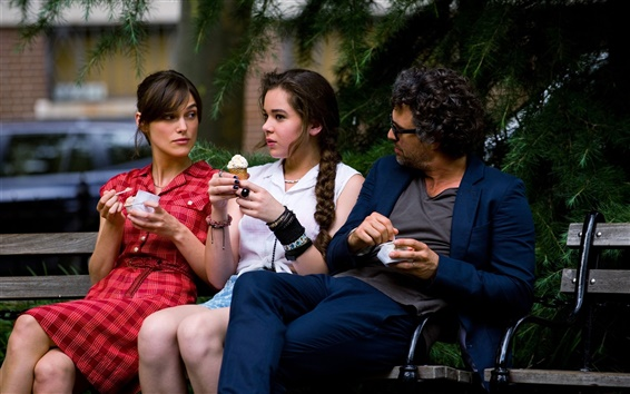 Wallpaper Begin Again, Keira Knightley, Hailee Steinfeld, Mark Ruffalo