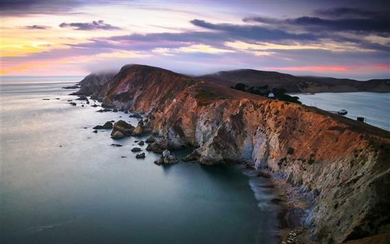 Fond d'écran Chimney Rock, Point Reyes National Seashore, Californie, États-Unis, sur la côte