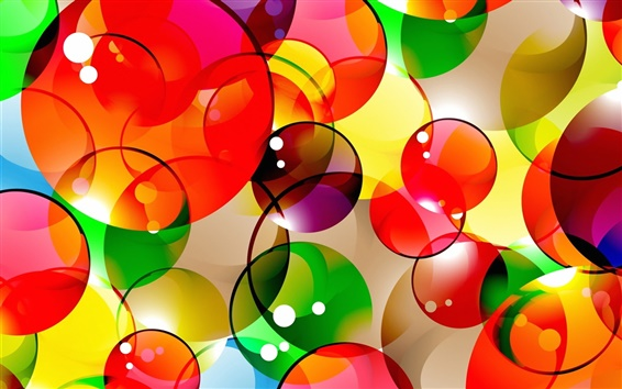 Wallpaper Colorful abstract background, bubbles, circles