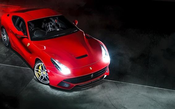 Обои Ferrari F12 Berlinetta красный суперкар, вид спереди