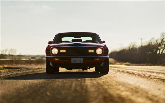 Обои Ford Mustang Mach 1 автомобиль вид спереди