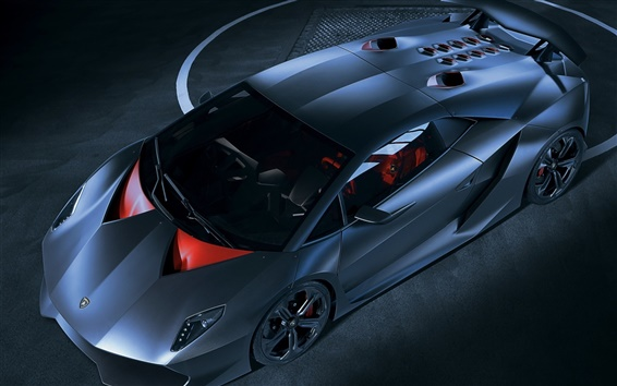 Wallpaper Lamborghini Sesto Elemento blue supercar