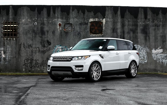 Wallpaper Range Rover white SUV car